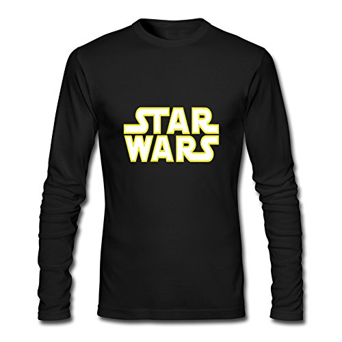 Hot Star Wars long sleeve Tops T shirts -  Maglia a manica lunga  - Uomo Black Medium