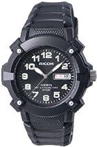 [リコー]RICOH 腕時計 ATRANTA(アトランタ) アナログ表示 スポーツ 10気圧防水 ブラック 350007-07 メンズ