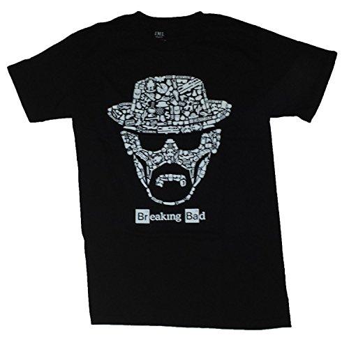 Breaking Bad Black Licensed Graphic T-Shirt - Medium