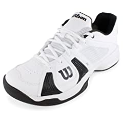 Buy Men`s Rush Open Tennis Shoes White and Black by Wilson