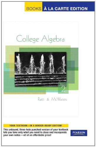 College Algebra, Books a la Carte Edition (2nd Edition)