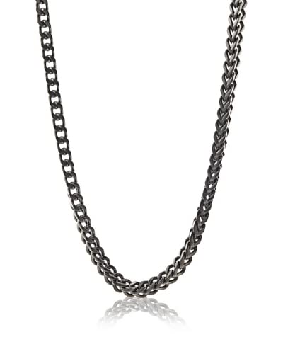 Stephen Oliver Men's Black Plated Boxed Link Necklace