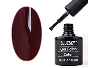 Gel Polish Nails by Bluesky Burgundy Brown Gel Polish 10ml