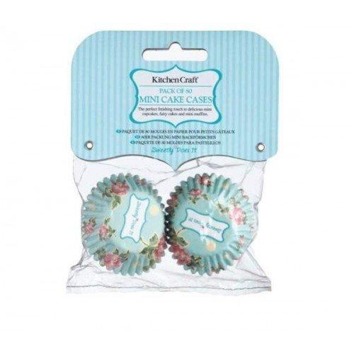 Kitchen Craft - Capsulas Mini Cupcake Rose (4,5 Cm), 80 Unids