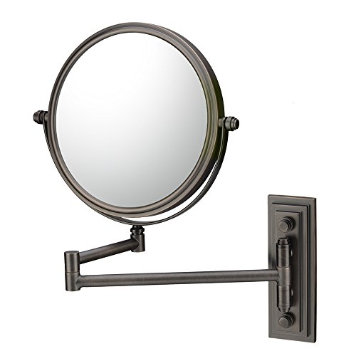 Kimball & Young 20815 Classic Double Arm Wall Mirror, 1X And 5X Magnification, Italian Bronze front-603118