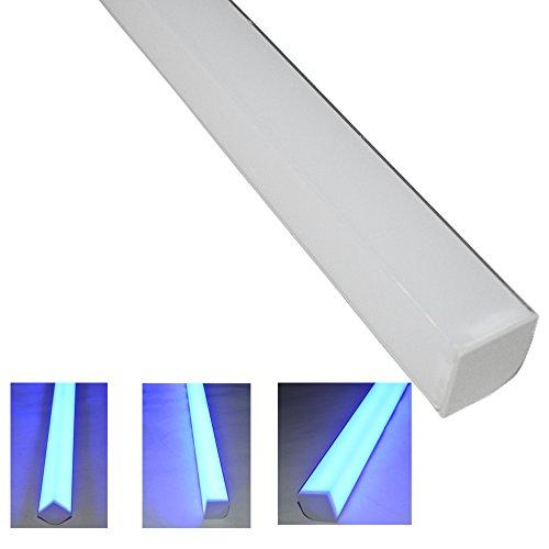 Deya® Led Under Cabinet Light Smd 5050 Non Waterproof Lamp Dc 12V Led For Kitchen Wardrobe Cupboard Closet 30Cm Blue 270 Degree Lighting 2-Pack