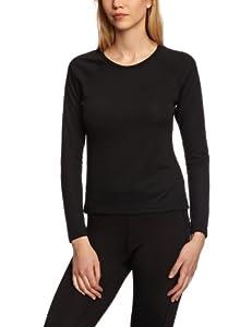 Berghaus Women's Essential Long Sleeve Crew Baselayer - Black, Size 10