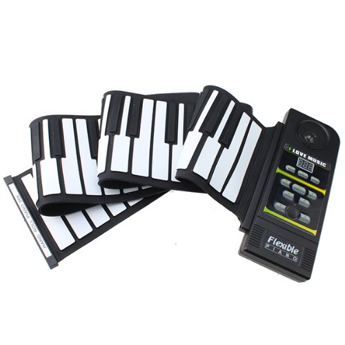 Image® 88 Keys Roll Up Foldable Piano Flexible Roll Up Electronic Keyboard With Louder Speaker For Kids Adult