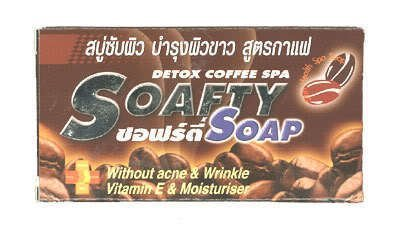 Detox Coffee Spa Soafty Soap Without Acne & Wrinkle Vitamin E & Moisturiser