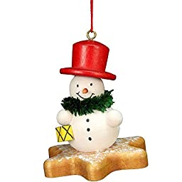 10-0558 - Christian Ulbricht Ornament - Snowman on Star - 2.5\