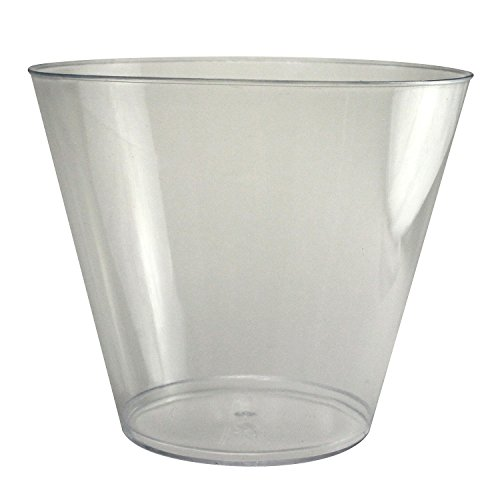 Enimay 9 oz. Tumbler Party Cups Old Fashioned Clear 25 Pack - 1