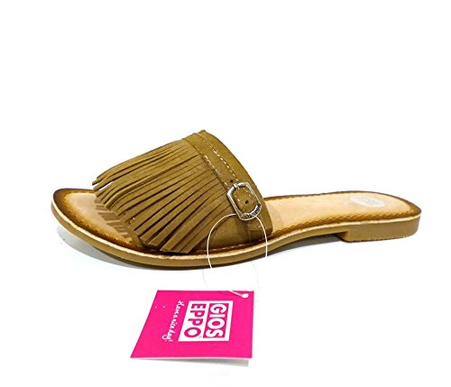 Gioseppo Hautain - taupe sandalo donna ciabatta bassa n° 38 beige con frange