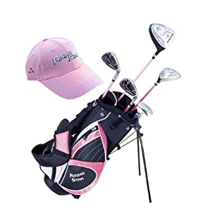 Paragon Rising Star Girls Kids Golf Clubs Set Ages 5-7 Pink With Golf Gift by Paragon Golf