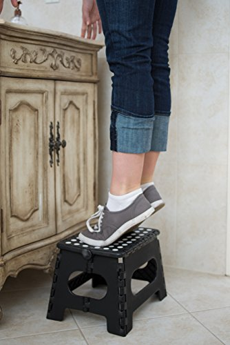 Epica Folding Step Stool 9 Quot X 11 Quot Black Hardware Tools