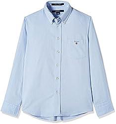 Gant Boys' Shirt (GBSFF0003_Sea Blue_XL)