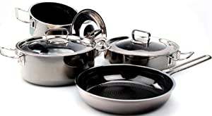 Hamilton Beach Stainless Steel 10 Piece Gourmet Pro Cookware Set