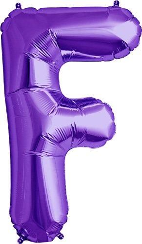 Letter F - Purple Helium Foil Balloon - 34 inch - 1