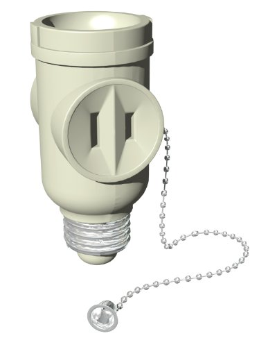 Stanley 30501 Pull Chain Socket Adapter, 2-outlet Light Bulb Socket Adapter, Beige (Outlet Light Bulb Adapter compare prices)