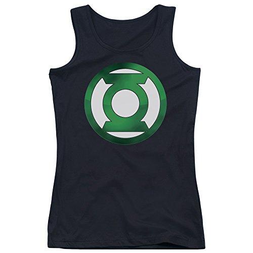 Green Lantern-Junior-Canottiera da uomo, con Logo, colore: verde Nero  nero