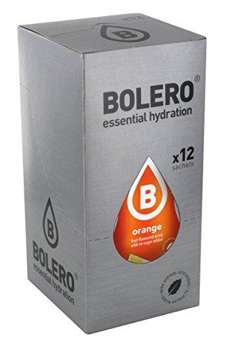 12 x Bolero Powdered Drinks Classic 9 g sachet Arancia