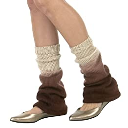 Xhilaration Brown Dip Dye Legwarmers - OS
