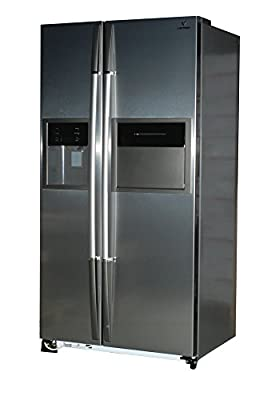 Videocon VPL60ZPS-FSC Side-by-Side Refrigerator (604 Ltrs, Platinum Silver)