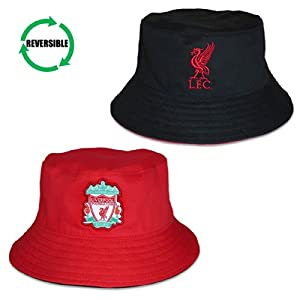 Liverpool FC Official Football Gift Reversible Bucket Hat Red Black (RRP£14.99!) from Liverpool FC