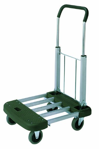 Wesco 272048 Professional Series Aluminum Platform Truck with Telefolding Handle, 330 lbs Load Capacity, 36-1/2