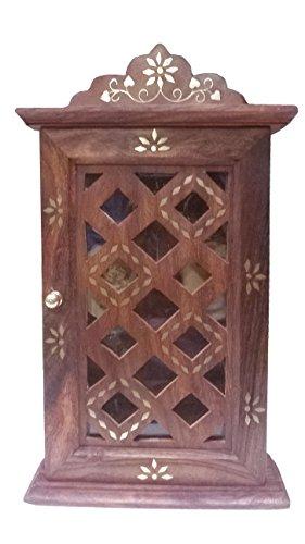 indiabigshop-journee-cadeau-de-pere-handcrafted-bois-key-cabinet-avec-panneau-de-verre-de-porte-et-l