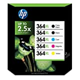 HP 364XL Black Cyan Magenta Yellow & Photo Ink Cartridgeby HP