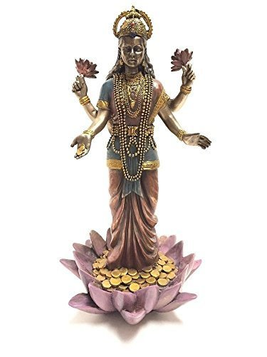 lakshmi-diosa-hindu-de-escultura-de-lotus-de-la-estatua