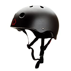 Protec Spitfire Helmet (Medium, Matte Black/ Red)