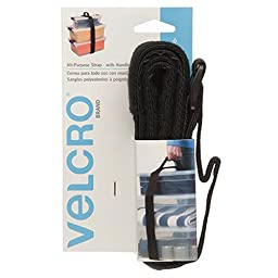 VELCRO Brand - All Purpose Straps - 6' x 2'' All Purpose Strap w/Handle, 1 Ct. - Black