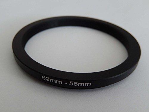 vhbw Step UP Filter-Adapter 62mm-55mm schwarz für Kamera Panasonic, Pentax, Ricoh, Samsung, Sigma, Sony, Tamron