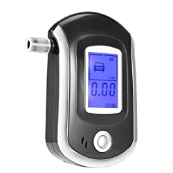 BENKS Portable Breathalyzer with Semi-conductor Sensor Professional LCD Display Digital Breath Alcohol Tester with 5 Mouthpieces