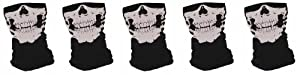 """Grossiste - Lot de 5 Tour de Cou Masque Cagoule """"Ghost Tete de mort"""" - Style Call of Duty Ghosts Modern Warfare Cod Mw3 Black Ops Battlefield Xbox 360 One Ps3 Ps4 - Airsoft - Paintball - Moto - Ski - Snow - Surf - Outdoor"""