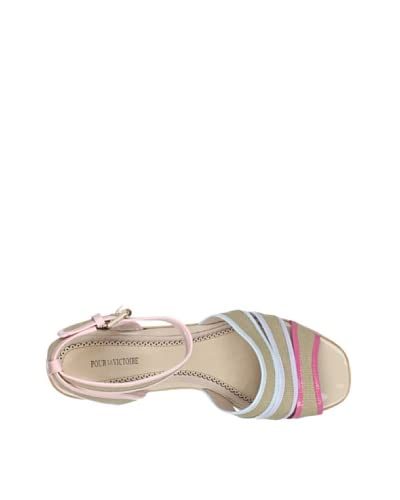 Pour La Victoire Women's Rylie Spring Canvas City Sandal  [Pink/Lilac/Blue/Light Pink/Natural,Patent]
