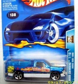 Hot Wheels 2003-138 Work Crewsers Blue Dodge Ram 1500 Highway 35 1:64 Scale
