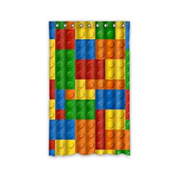 SANMOU Custom Funny Colorful Lego Blocks Dots Thermal Insulated Blackout Curtain Polyester 52\