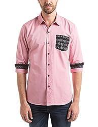 Prym Men's Casual Shirt (8907423052208_2011543601_X-Large_Red)