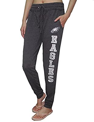 PHILADELPHIA EAGLES NFL Womens Athletic Cuffed Track Pants / Sweatpants