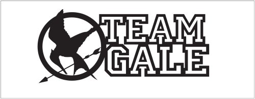Hunger Games Team Gale Mocking Jay Sticker Decal. Black