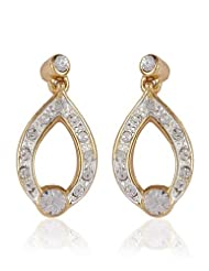 Estelle Gold Plated Stud Earring With Crystals (524/709)
