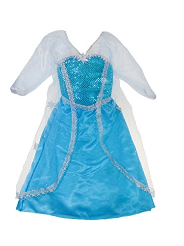 Creative Education (Great Pretenders) Girls Elsa Ice Crystal Queen Dress-up Costume