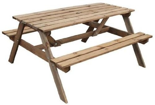 Wooden picnic bench pressure treated table
