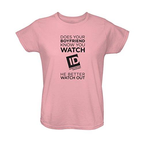 Id Women'S Bf Better Watch Out T-Shirt Light Pink Xxl