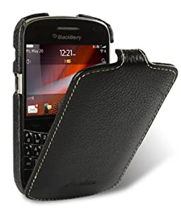 Melkco - BlackBerry Bold Touch 9900 / Dakota / Magnum / Bold Touch 9930 / Montana Ultra Slim Handmade Premium Genuine Cowhide Leather Case Jacka Flip Top Type Black