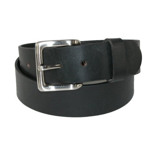 Toneka Mens Leather with Removable Buckle 1 1/2 Inch Bridle Belt, 36, Black