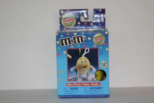 M&M's Mini Plush Yellow Radio - 1