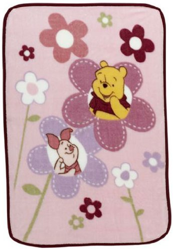 "Winnie the Pooh Luxury Plush Throw Blanket - Happy Morning (30"" x 45"") - 1"